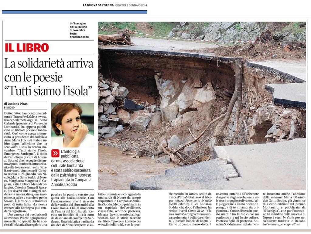 2 gennaio 2014 - La Nuova Sardegna di Luciano Piras