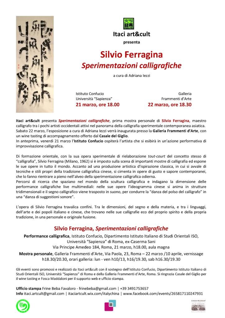 Silvio Ferragina_Sperimentazioni calligrafiche_Roma_21-22 marzo 2014