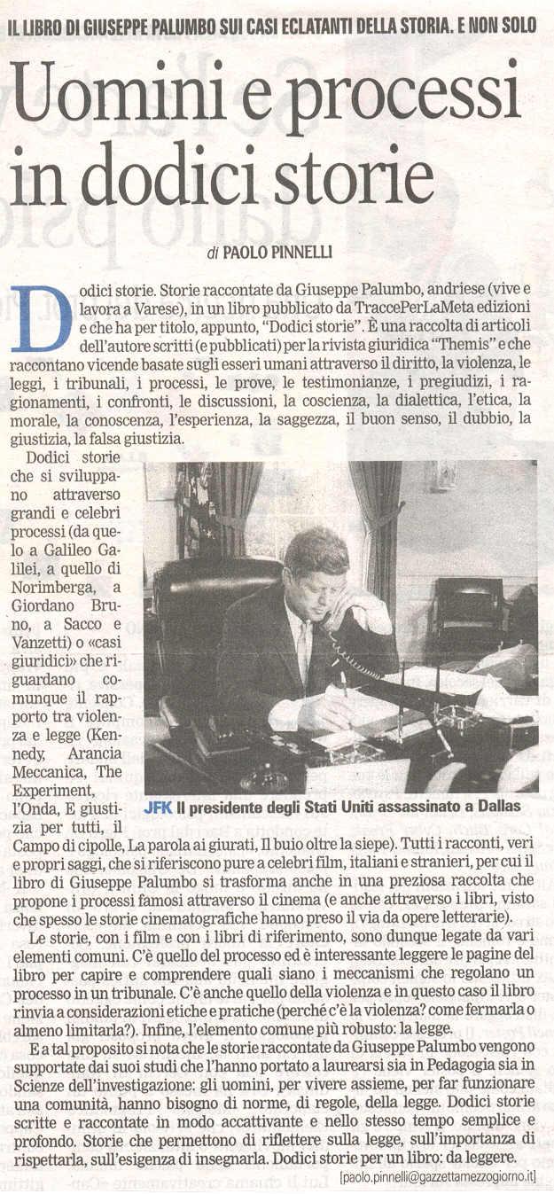 Recensione di Paolo Pinnelli Dodici Storie