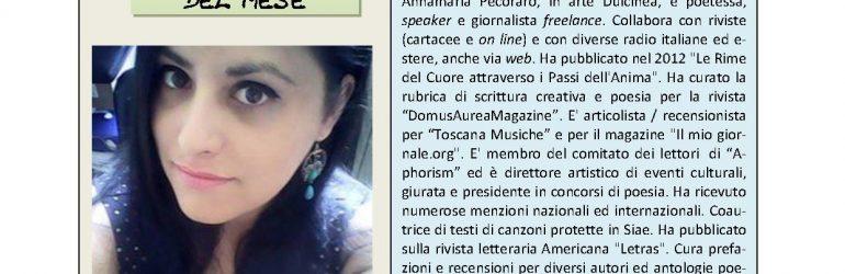 Agosto 2016, n.8, La Voce dell'Appenzeller Museum – Annamaria Pecoraro, Artista del mese