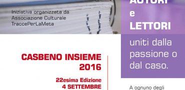 4-9-10 settembre 2016 Autori e Lettori uniti dalla passione o dal caso
