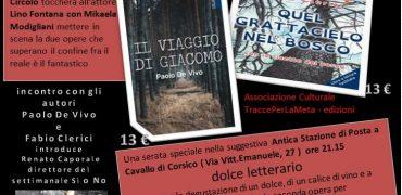 7 giugno 2017 – Dolce Letterario con Paolo De Vivo e Fabio Clerici