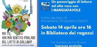 14.4.2018 – Un pomeriggio di lettura ad alta voce con I Mangiafavole – per bambini da 5 a 99 anni