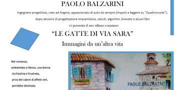 """12.5.2018 Presentazione libro """"Le gatte di Via Sara"""" di Paolo Balzarini"""